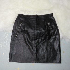 Missguided | Black Faux Leather Skirt